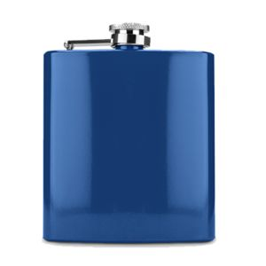6 oz. Gloss Blue Laserable Stainless Steel Flask Thumbnail