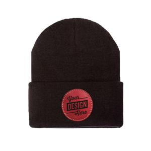 Flexfit Thinsulate Cuffed Beanie & Patch Bundle - Laser Engraved Thumbnail