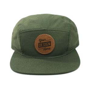 Five Panel Strapback & Leather Patches Bundle - Laser Engraved Thumbnail
