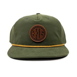 Richardson Grandpa Pinch Rope Snapback & Leather Patches Bundle - Laser Engraved - Your Logo Thumbnail