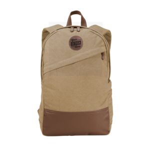 Port Authority ® Cotton Canvas Backpack & Leather Patch - Laser Engraved Thumbnail