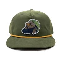Richardson Full Color Patch Grandpa Pinch Rope Snapback Bundle - Your Logo Thumbnail