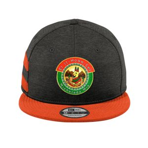 New Era Full Color Patch Shadow Heather Striped Flat Bill Snapback Cap Bundle - Your Logo Thumbnail